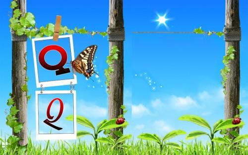 """""""Hình nền chữ cái sánh đôi Q Q"""""""