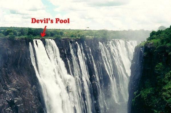 Vị trí của hồ bơi Devils
