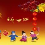 Bộ sưu tập hình nền đẹp năm mới Giáp Ngọ