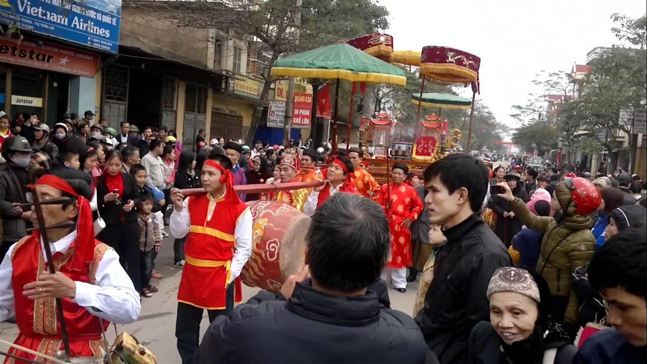 Hình ảnh rước hội ở Hội Lim